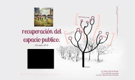 RECUPERACION DEL ESPACIO PUBLICO PARA LA SOCIABILIDAD CIUDADANA.