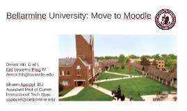 Bellarmine's Moodle Move