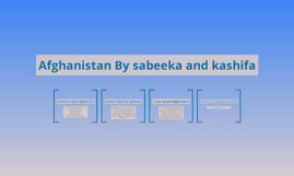 Afghanistan By sabeeka and kashifa