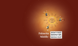 Palmetto Middle :  OUR TIME TO SHINE!