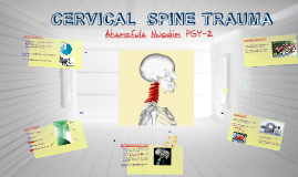 Copy of CERVICAL  SPINE TRAUMA