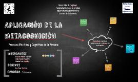 Aplicación de la Metacognición