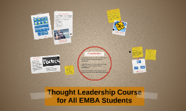 Thought Leadership for All EMBA Students