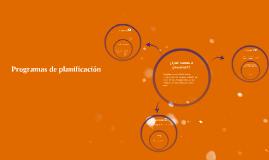 Programas de planificación