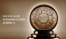 ESCUELAS DE INTERPRETACIÓN JURÍDICA.