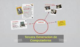 3era Generacion de Computadoras