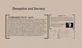 Frankenstein topic #6- Deception and Secrecy
