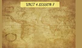 Unit 4 Lesson 7