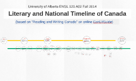 Literary and National Timeline of Canada