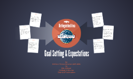 Goal Setting & Expectations for Area Directors