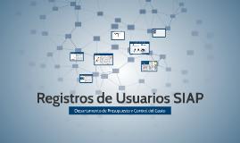 Registros de Usuario SIAP