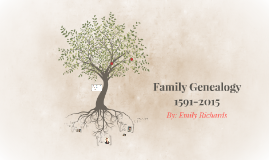 Richards Family Genealogy 1591-2015