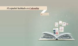El español de COLOMBIA