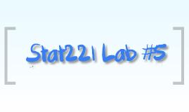 Stat Lab #5
