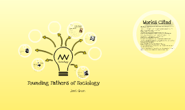 Copy of Founding Fathers of Sociology