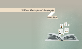 William Shakespeare's biography