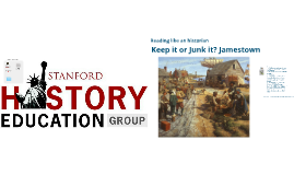 EDUC 305 Jamestown: Historical Mystery and Keep it or Junk it activity