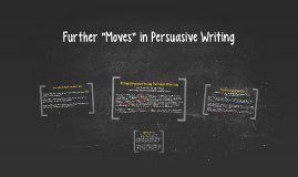 Further Moves in Persuasive Writing