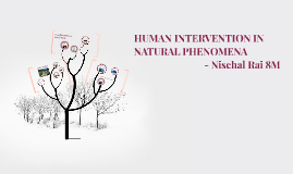 HUMAN INTERVENTION IN