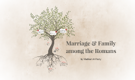 Marriage & Family among the Romans