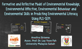 Formative and Reflective Model of Environmental Knowledge, E