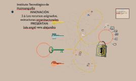 2.6 Los recursos asignados, estructuras organizacionales