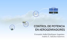 CONTROL DE POTENCIA EN AEROGENRADORES
