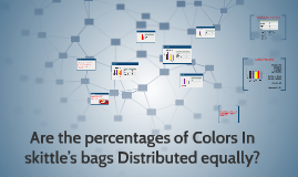 Are the percentages of Colors In skittle's bags Distributed