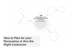 How to Plan for your Renovation & Hire the Right Contractor