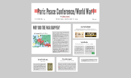 Paris Peace Conference/World War I