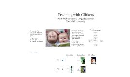 Teaching with Clickers Demo @ De Lange IX