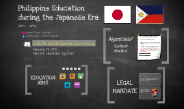 Education during the Japanese Era