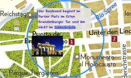 Der Boulevard beginnt im Pariser Platz im Osten Brandenburge