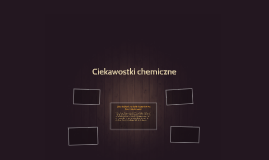 Ciekawostki chemiczne