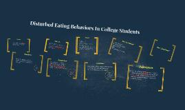Disturbed Eating Behaviors In College Students