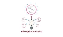 Subscription Marketing