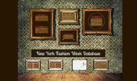 New York Fashion Week Database