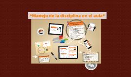 manejo de la disciplina en el aula
