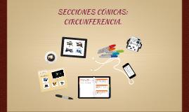 Secciones Conicas. Circunferencia