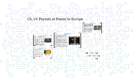 Ch. 14: Pursuit of Power in Europe