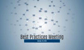 Best Practices Meeting
