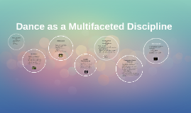 Dance as a Multifaceted Discipline