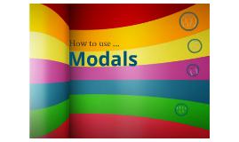 Copy of Modals