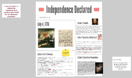 Independence Declared: July 4, 1776