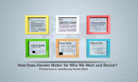 How Does Gender Matter for Who We Want and Desire