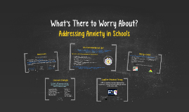 Copy of Anxiety in Schools