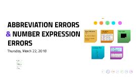 Numerical Expression Errors