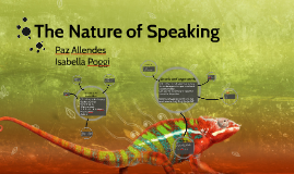 Nature of Speaking