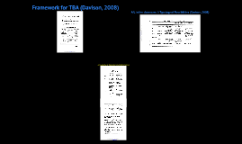 Framework for TBA