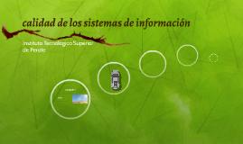 calidad de los sistemas de información